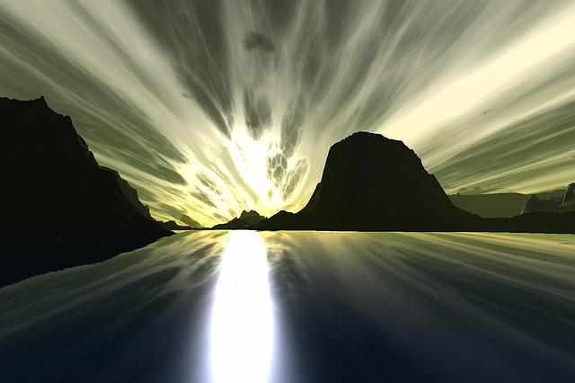 差し込む光,希望