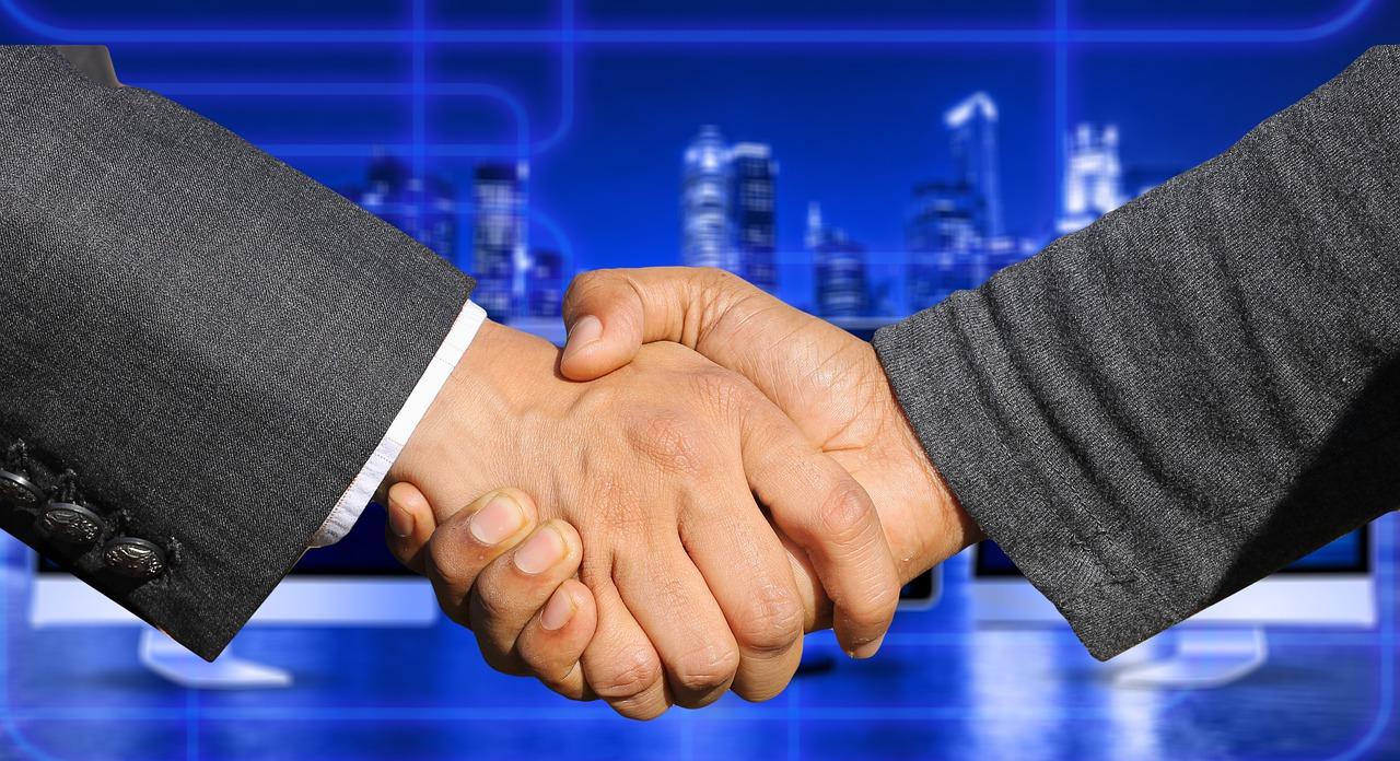 提携、握手