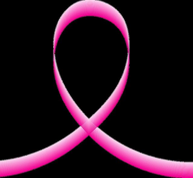 因果関係を表すピンクのリボン