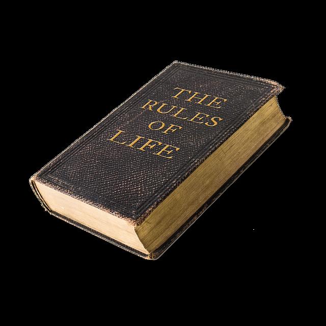 ルールと書いてある本の画像