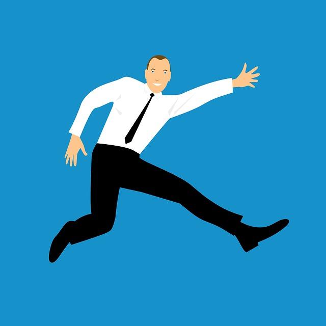 飛び跳ねる人