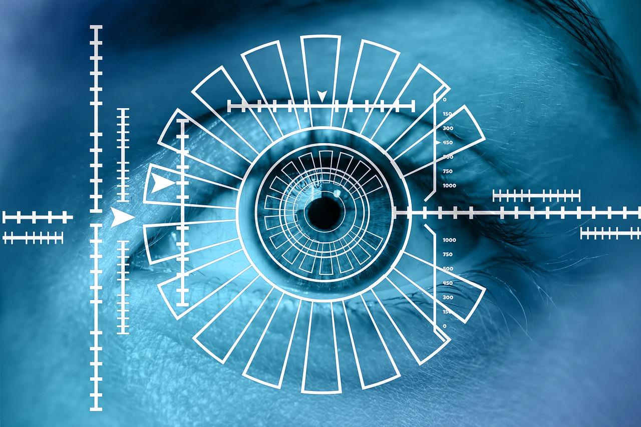 目の画像、見通す、照準を合わせる