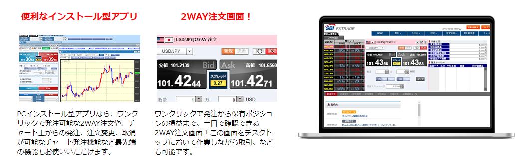 SBI FXトレードのパソコン版取引ツール