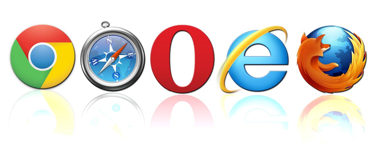 chrome、safari、opera、IE、Firefoxなどのロゴ