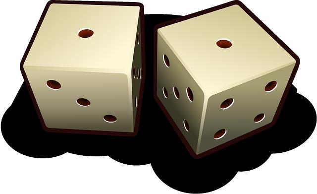 サイコロ。確率のイメージ。