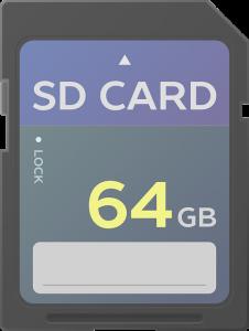 SDカード(64GB)のイラスト