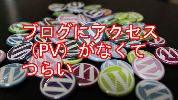 ブログにアクセス(PV)がなくてつらい