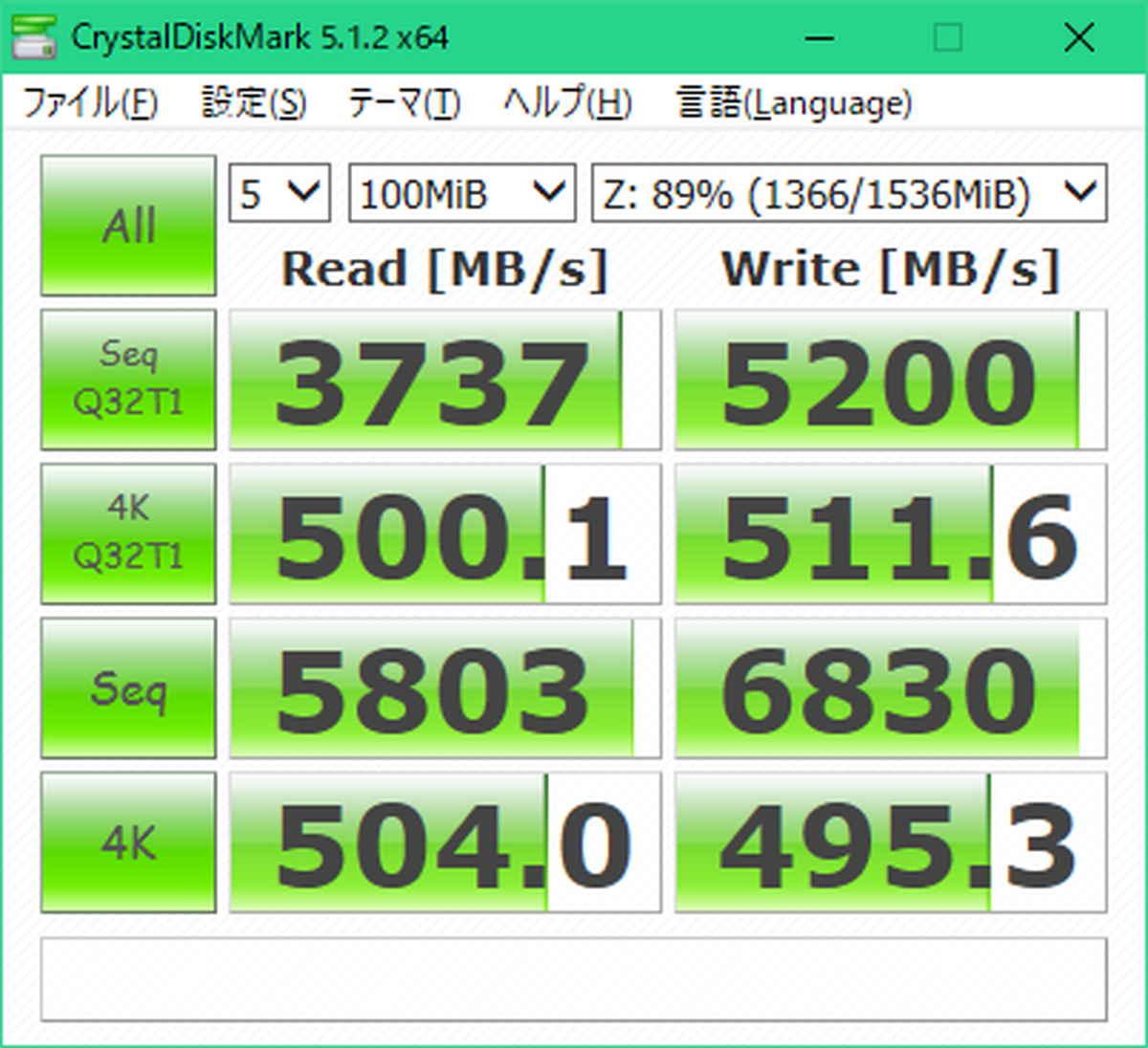 RAMディスク速度